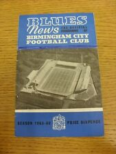 26/02/1966 Birmingham City v Plymouth Argyle  (Pen Mark Filling In White Banner