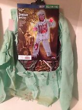 NWT Fun World Boy/Child Zombie Doctor Costume 5 Piece Fancy Dress Sz XL (14-16)