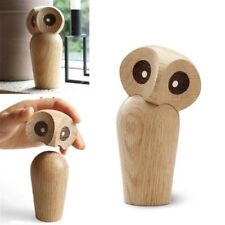 Innovative Owl Animal Statue Ornaments Cute Wooden European Home Art Decorations