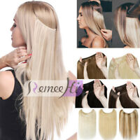 One Piece Invisible Wire Flip In Human Hair Extensions halo 100% Human Hair 100g