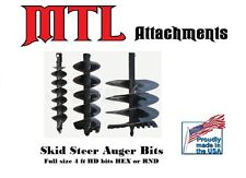 "MTL Attachments 48"" x 12"" skid steer HD Auger Bit w/2"" Hex -Free Shipping"
