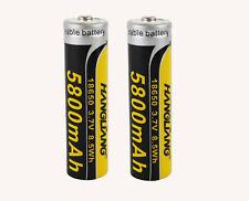 2 x HANGLIANG 5800 mAh Lithium Ionen Akku 3,7 V Accu wiederaufladbare batterien