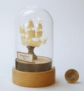 """Miniaturskulptur """"Mayflower""""  Mammut Stoßzahn, ca. 50 x 45 x 20mm"""