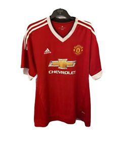 Manchester United 2015-16 Adidas Original Home Football Shirt (Excellent) XXL