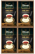 Dilmah Earl Grey Ceylon Tea - 50 Tea Bagged X 4 Boxes (400g)