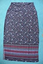 Size 20 Maxi Skirt Foldover Comfort Waist Crossroads Border Print