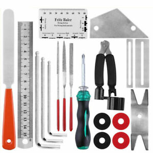 Guitar Care Cleaning Repair Kit Luthier Setup Maintenance Tool Set w/Storage Bag