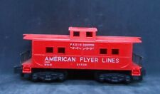 Vintage Gilbert American Flyer S Gauge Red Caboose Radio Controlled