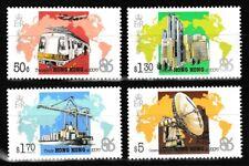 Vancouver Expo 4 mnh stamps 1986 Hong Kong #470-3 train plane ship finance comm