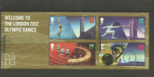 MS3341 GB WELCOME TO THE LONDON 2012 OLYMPIC GAMES VERY FINE USED MINI SHEET