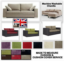 MADE TO MEASURE PACKAGE CUSHIONS & COVERS CHENILLE FABRIC HOME GARDEN FURNITURE