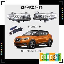 2017 2020  for Nissan Kicks  LED  Fog Light Kit w/ Wiring Switch Bezel