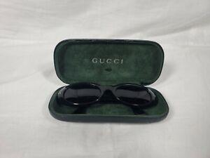 Vintage 90s GUCCI GG 2413/S Sunglasses Black with Purple Lenses