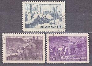 KOREA 1967 used SC#772/74 set, Paintings of the guerrillawar against Japan.