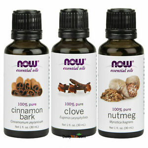 Cinnamon, Clove and Nutmeg essential oil 1 fl oz each Made in USA FREE SHIPPING