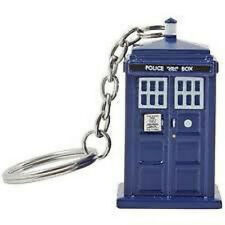 Doctor Who Tardis Keychain Keyring Torch Light