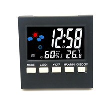 Color LCD Digital Alarm Clock Multi function Voice Control Temp Humidity Weather