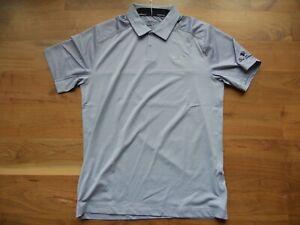 NWT Nike Golf Shirt Polo Tour Performance Gray Bear Dance GC Size M