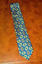 New Vintage Beautiful Valentino Handmade Silk Cravatte Green/Blue/Yellow Italy
