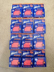 Lot of 12 Mack's Soft Moldable Silicone Putty Ear Plugs - Kids Size 6 Pair