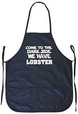 Come to the Dark Side We Have Lobster Cooking Apron With Pockets