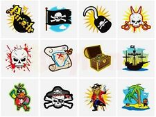 24 x PIRATE TEMPORARY TATTOOS BOYS BIRTHDAY PARTY BAG CHRISTMAS STOCKING FILLERS