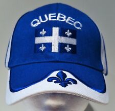 Quebec Quebecois Flag Fleur De Lys Hat Cap Baseball Blue Chapeau Casquette