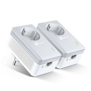 TP-Link TL-PA4010P KIT 2er AV600 600Mbit/S Dlan Powerline Lan Adapter Socket