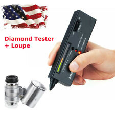 US Jeweler Diamond Tool Kit : Portable Diamond Tester + 60X Illuminated Loupe