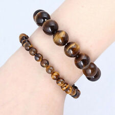 Natural African Roar Natural Tiger's Eye Stone Round Beads Bracelet Jewelry New
