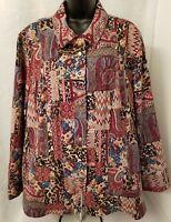 CJ Banks Womens Snap Front Shirt Top Blouse OR Light Jacket Coat Size 2X