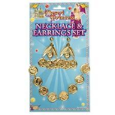 Cleopatra Egipcio Arabian Princess Gypsy Coin Collar pendiente conjunto Fancy Dress