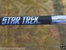 "Rare! ""Fisher Space Pen"" Star Trek Enterprise Ball Point Pen Black/Silver WORKS"