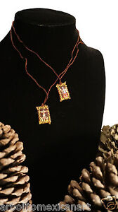 Jesus Christ Handcrafted Scapular Imperfect / Escapulario Imperfecto Jesus Small