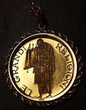 Italian Gold Medal, Jewish Religion, in 14 kt. Bezel