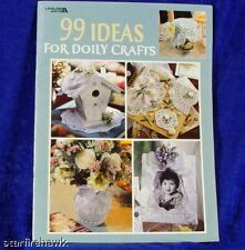 Instruction Book 99 Ideas Doily Crafts Projects 37pgNEW