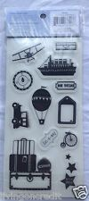 """Heidi Grace Designs TRAVEL Rubber Cling Stamps - 4"""" x 8""""  Brand New"""
