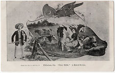 1906 Pittston PA Pure Milk Wife Squirts Husband Cows Rural Luzerne UDB Postcard