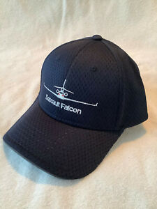 DASSAULT FALCON AIRCRAFT CORPORATION AIRLINE BASEBALL CAP  IN  DARK  BLUE