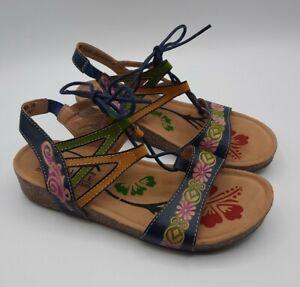 Spring Step L'Artiste Loma Sandals Size 38 US 8 Leather Gladiator