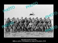 OLD LARGE HISTORIC PHOTO OF WOODSIDE SA, AUSTRALIAN ARMY 27th BATTALION c1938