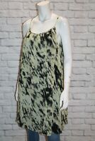 NICOLA FINETTI Brand Printed Pleat Chiffon Dress Size 10 BNWT sx90