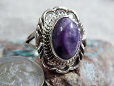 New Ladies Sterling Silver Chaorite Ring By Navajo Virgil Chee Size 8