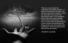 Encadrée Imprimer-d'inspiration cite Richelle E. GOODRICH dépression (photo art)