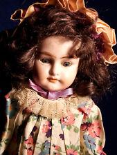 16� Alma Petite Antique Bisque Shoulder Head Doll Armand Marseille Pretty Dress