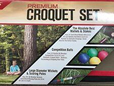 Kelsyus Premium Outdoor Croquet Game Set 4 Player w/Carrying Bag
