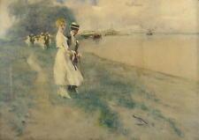 Wilhelm Schreuer 1866 - Düsseldorf / Spaziergang am Rheinufer bei Kaiserswerth