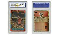 1996 Michael Jordan Fleer Rookie Card 10 Year Reprint Refractor Edition Graded