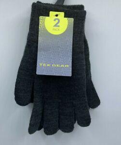 Men's Tek Gear 2-Pack Touchscreen Compatible Gloves Gray