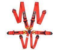 STR 6-Point Race Harness FIA 8853-2016 (2024) Safety Seat Belt IVA Safe - RED